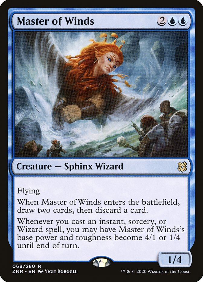 Carta Mestra dos Ventos/Master of Winds de Magic the Gathering