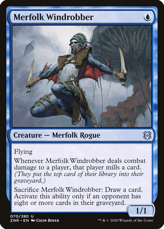 Carta Ladrão Eólico Tritão/Merfolk Windrobber de Magic the Gathering