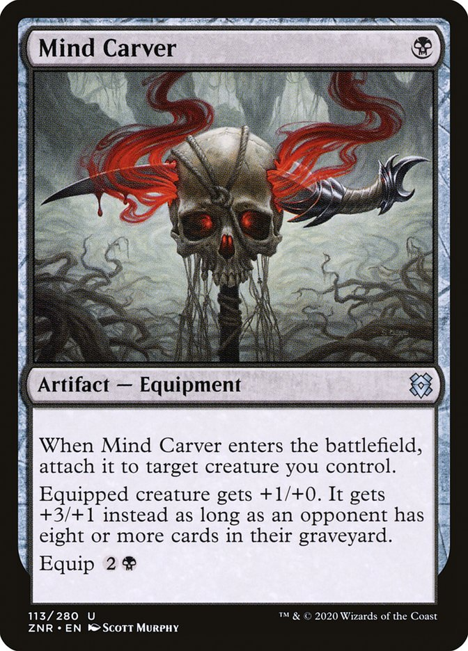 Carta Talhamentes/Mind Carver de Magic the Gathering