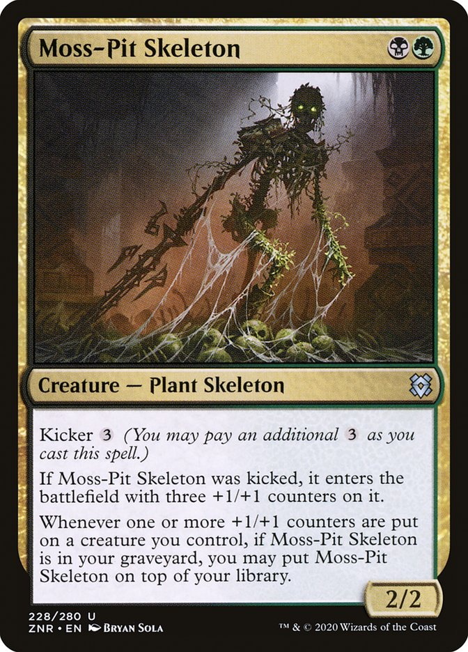 Carta Esqueleto do Poço de Musgo/Moss-Pit Skeleton de Magic the Gathering