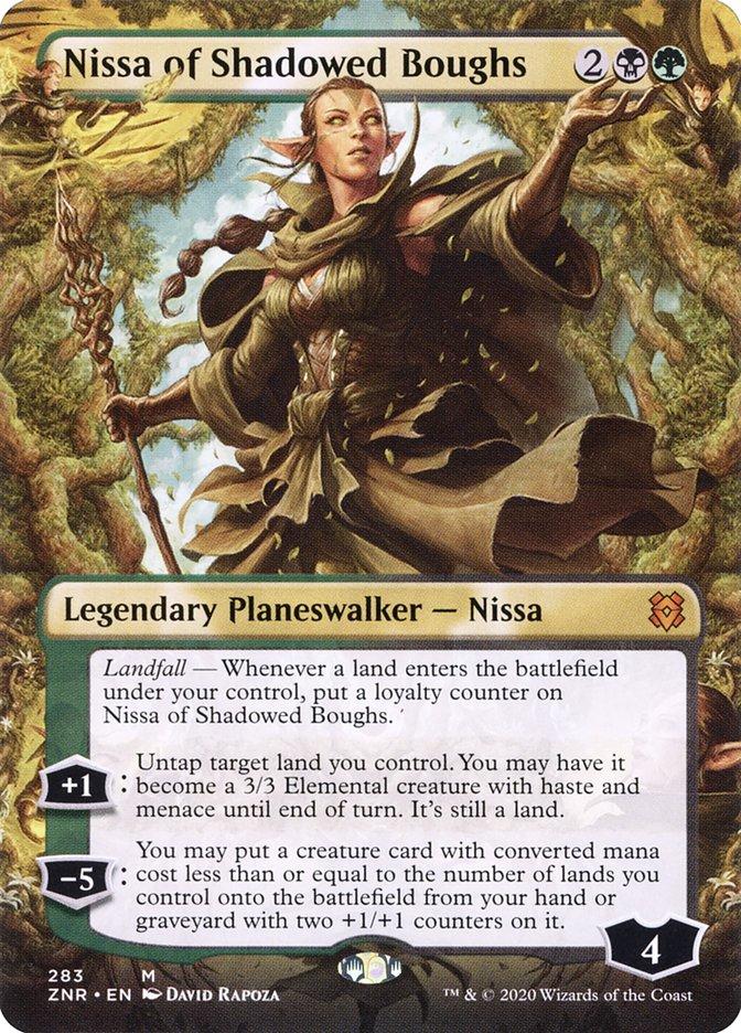 Carta Nissa dos Ramos Umbrosos/Nissa of Shadowed Boughs de Magic the Gathering