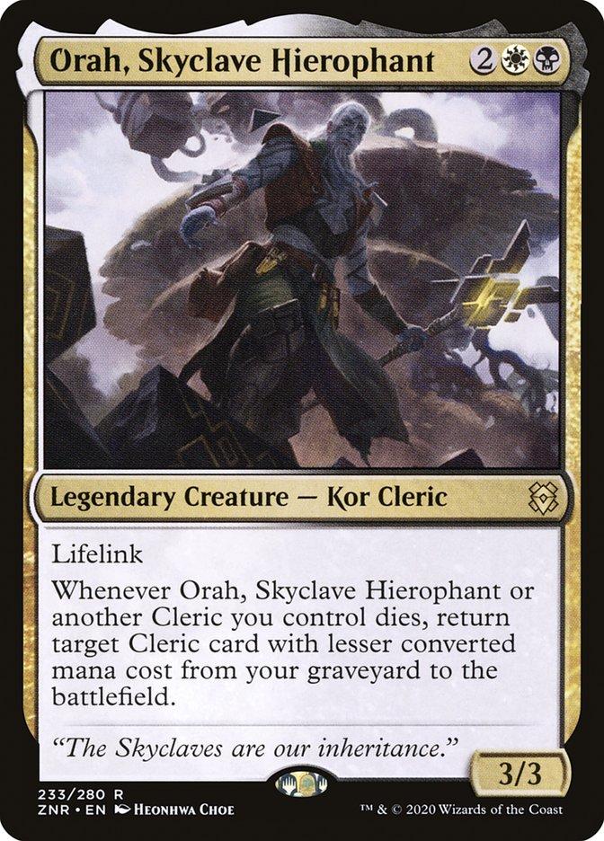 Carta Orah, Hierofante do Enclave Celeste/Orah, Skyclave Hierophant de Magic the Gathering