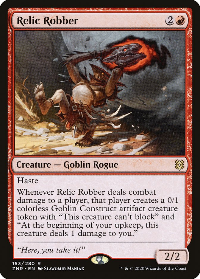 Carta Ladrão de Relíquias/Relic Robber de Magic the Gathering
