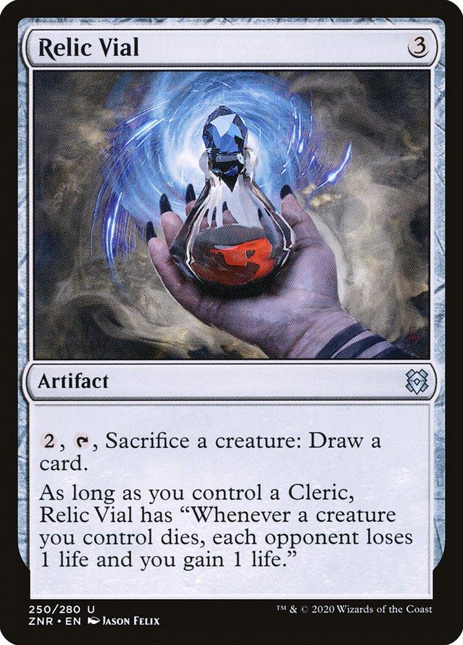 Carta Frasco Relíquia/Relic Vial de Magic the Gathering