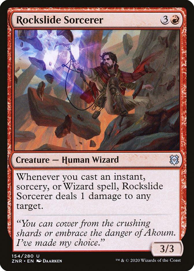 Carta Feiticeiro da Avalanche/Rockslide Sorcerer de Magic the Gathering