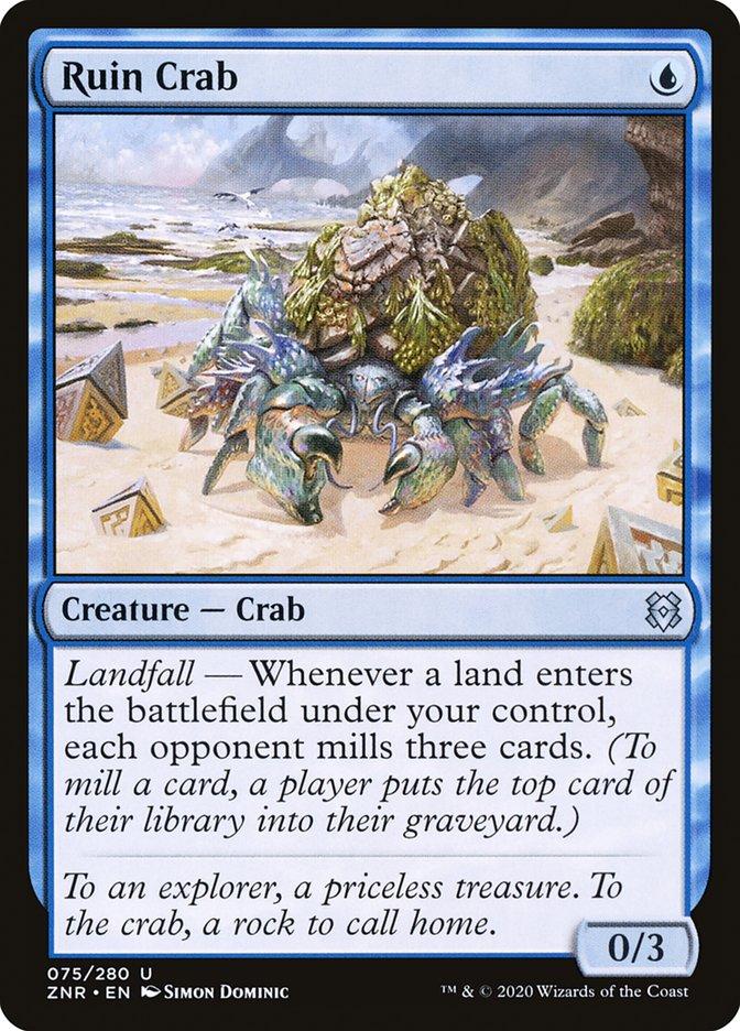 Carta Caranguejo-das-ruínas/Ruin Crab de Magic the Gathering