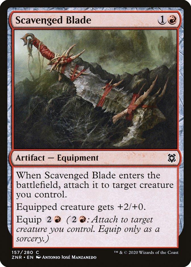 Carta Lâmina Salvada/Scavenged Blade de Magic the Gathering