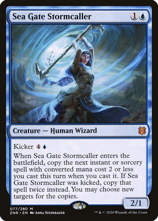Carta Evocadora de Tormenta de Portão Marinho/Sea Gate Stormcaller de Magic the Gathering