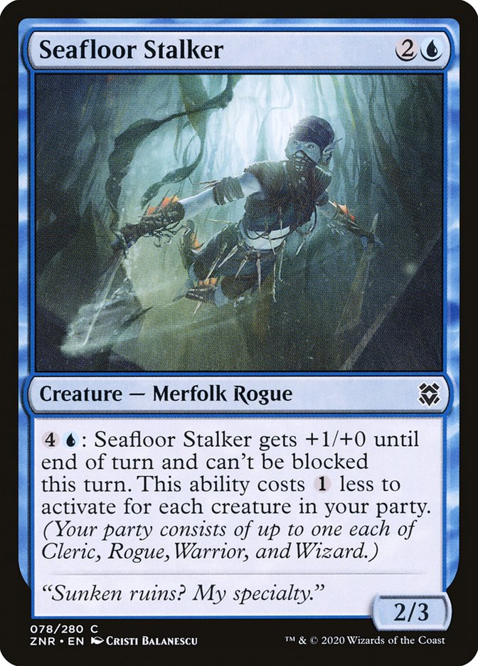 Carta Espreitadora do Fundo do Mar/Seafloor Stalker de Magic the Gathering