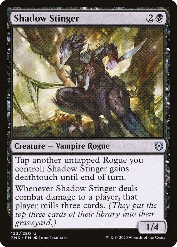 Carta Aguilhoadora das Sombras/Shadow Stinger de Magic the Gathering