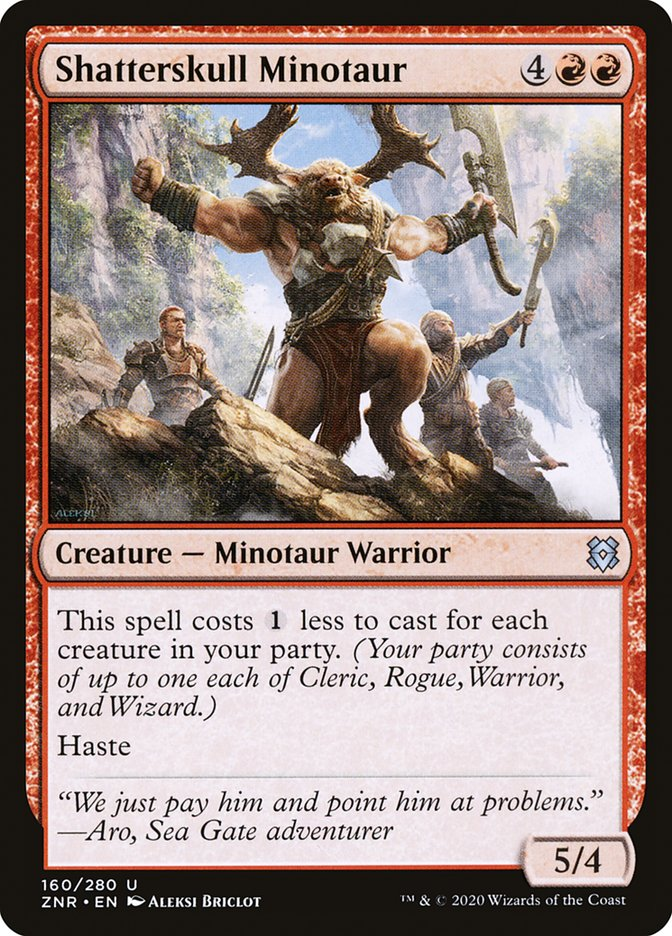 Carta Minotauro de Quebra-crânio/Shatterskull Minotaur de Magic the Gathering