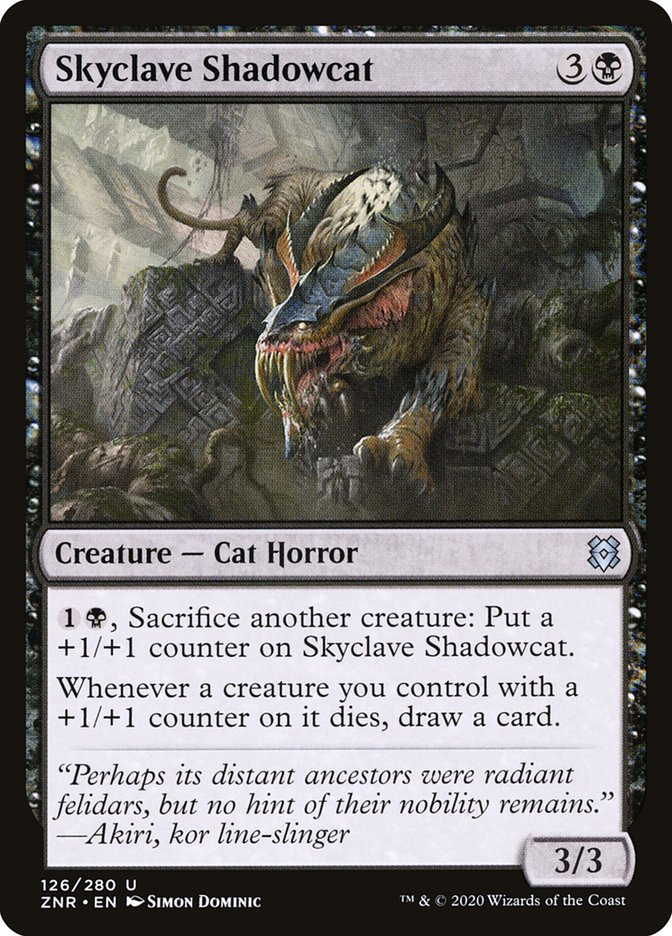 Carta Umbrogato do Enclave Celeste/Skyclave Shadowcat de Magic the Gathering