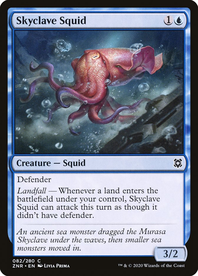Carta Lula do Enclave Celeste/Skyclave Squid de Magic the Gathering
