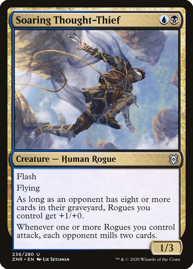 Carta Ladrão de Pensamentos Planador/Soaring Thought-Thief de Magic the Gathering