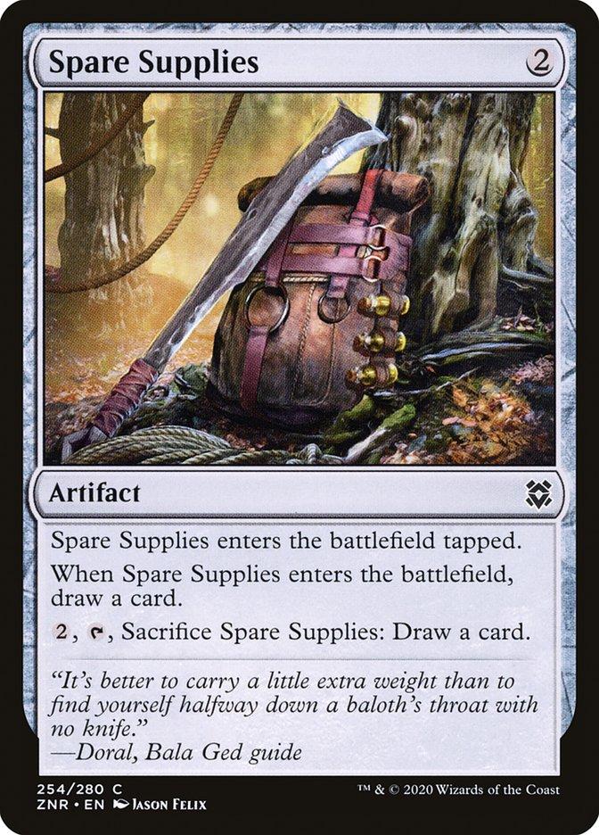 Carta Suprimentos de Reserva/Spare Supplies de Magic the Gathering