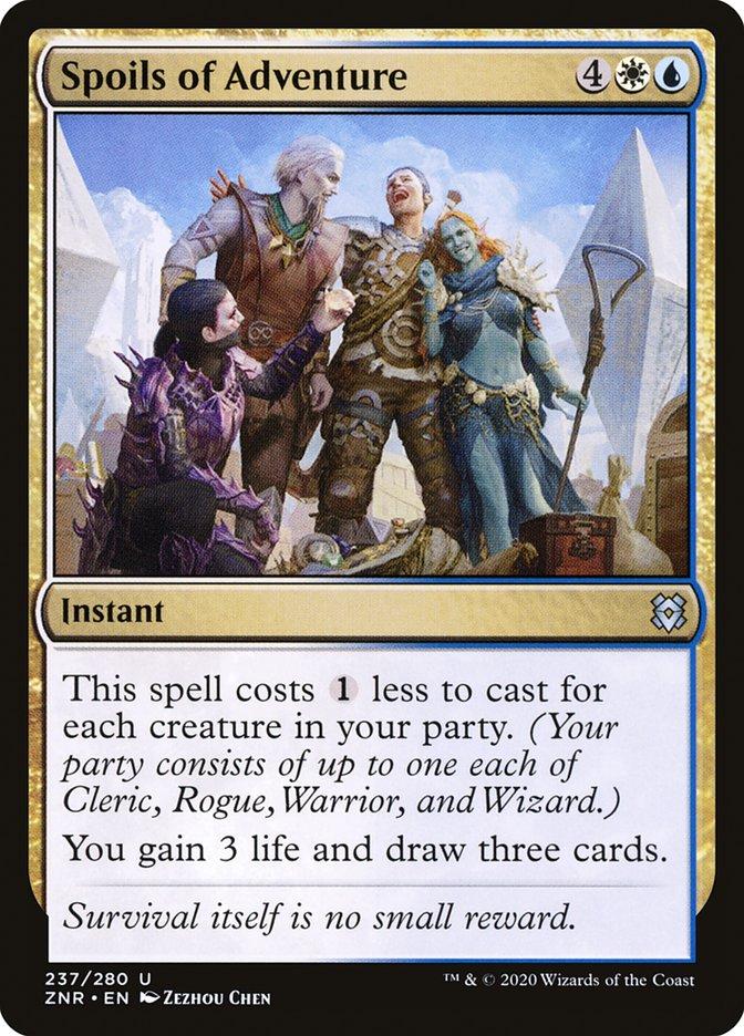 Carta Espólios da Aventura/Spoils of Adventure de Magic the Gathering