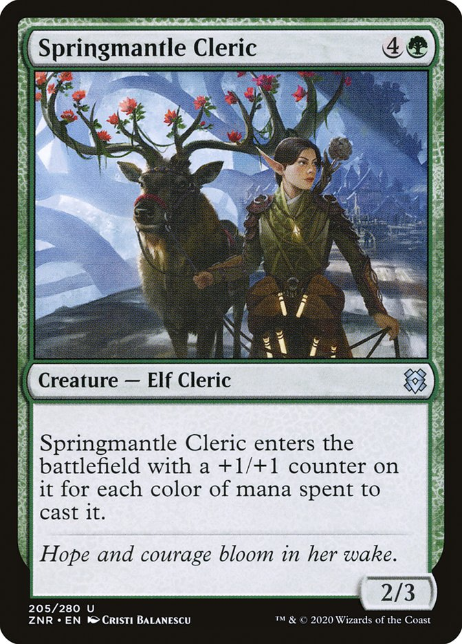 Carta Clériga do Manto Primaveril/Springmantle Cleric de Magic the Gathering