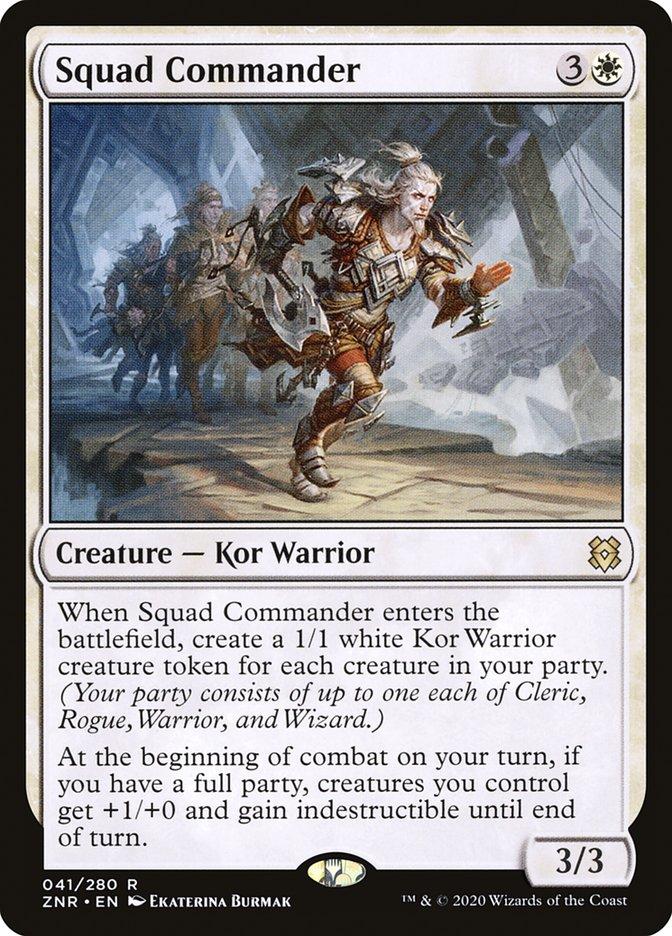 Carta Comandante de Esquadrão/Squad Commander de Magic the Gathering