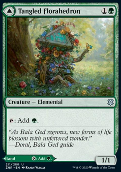 Carta /Tangled Florahedron // Tangled Vale de Magic the Gathering