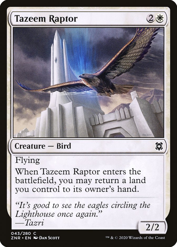 Carta Raptor de Tazeem/Tazeem Raptor de Magic the Gathering
