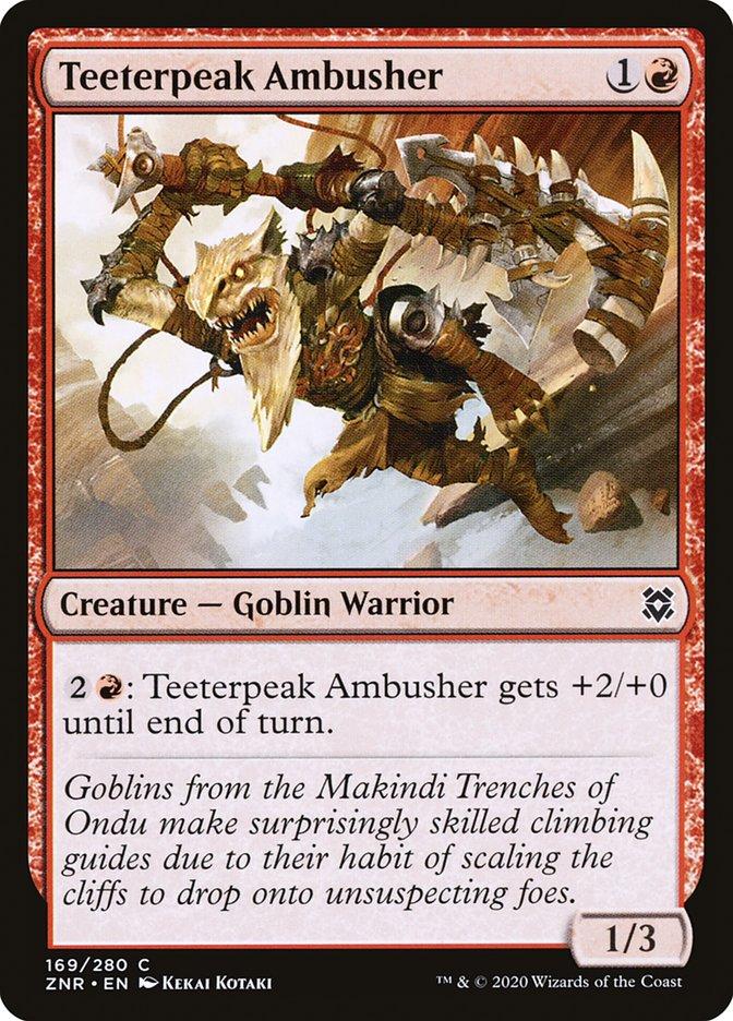 Carta Emboscador dos Picos Vacilantes/Teeterpeak Ambusher de Magic the Gathering