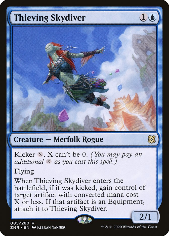 Carta Mergulhadora Celeste Ladra/Thieving Skydiver de Magic the Gathering