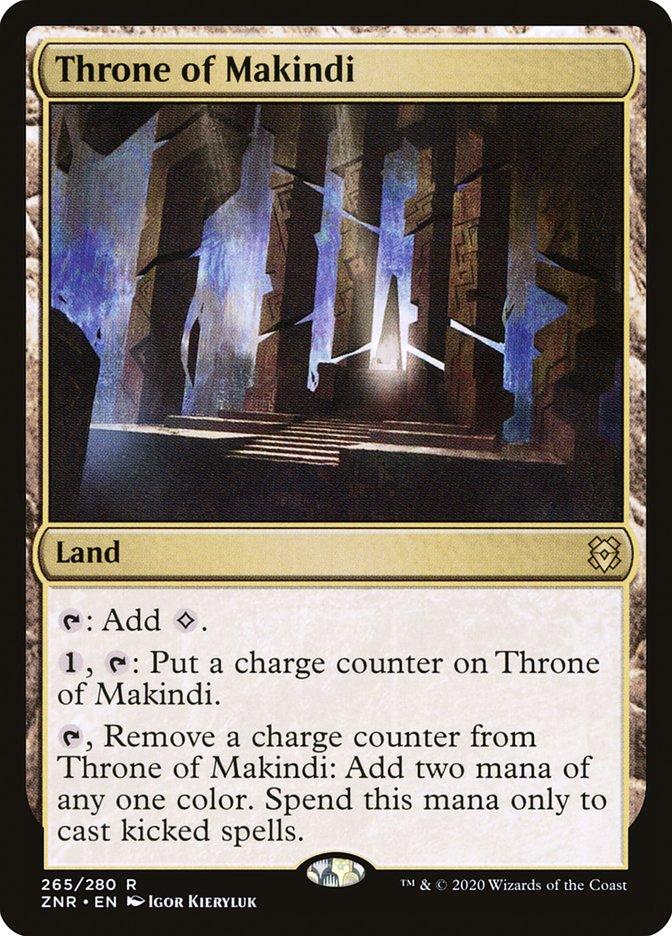 Carta Trono de Makindi/Throne of Makindi de Magic the Gathering