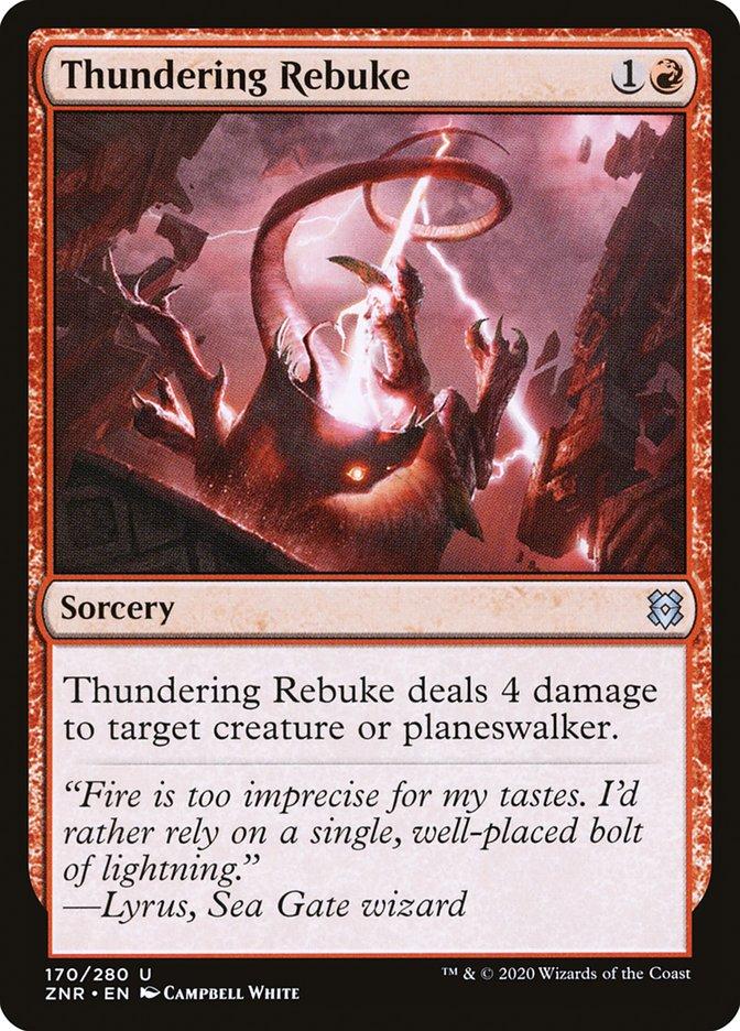Carta Repreensão Trovejante/Thundering Rebuke de Magic the Gathering