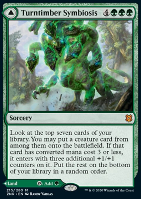 Carta /Turntimber Symbiosis // Turntimber, Serpentine Wood de Magic the Gathering