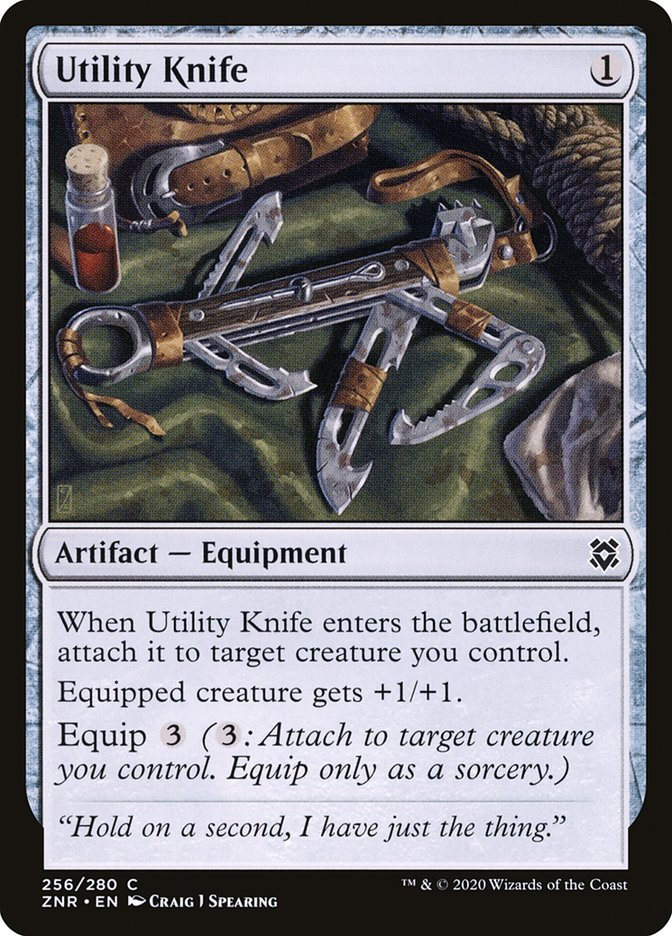 Carta Faca Versátil/Utility Knife de Magic the Gathering