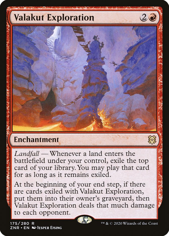 Carta Exploração de Valakut/Valakut Exploration de Magic the Gathering