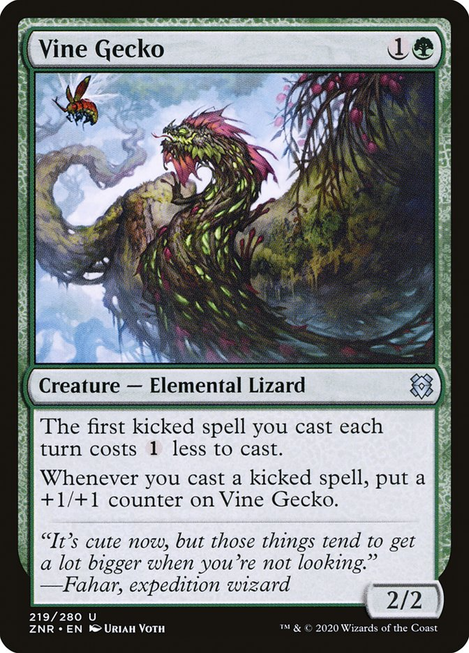 Carta Lagartixa-de-vinhas/Vine Gecko de Magic the Gathering